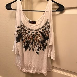 Other - White cutout T-shirt